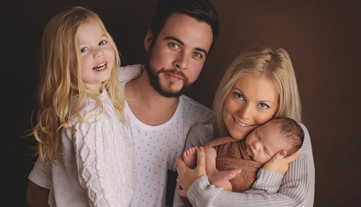 Family photograph from a newborn session.